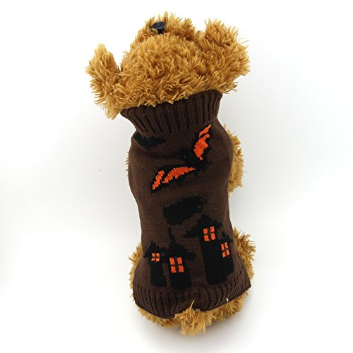 [DOGGYZSTYLE Halloween Holiday Fashion Pet Clothes Bat Sweater for Dogs Cats (S, Bat)] (Bat Costume For Cat)