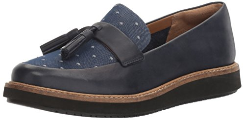 Clarks Women's Glick Castine Slip-on Loafer Navy Leather cheap the cheapest sale official site free shipping ebay cheap online store Manchester clearance manchester great sale j51HrHFa