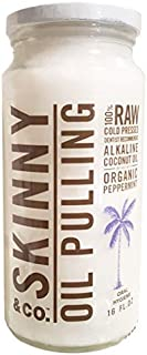 product image for Skinny & Co. Coconut Oil Peppermint Oil Pulling 16 Oz Jar by Skinny & Co.