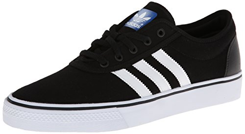 adidas Originals Men's Adi-Ease Skate Shoe,Black/White/Black,11 M US - Mens Canvas Low Skate Shoe