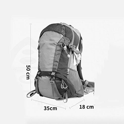 AMOS Mountaineering bolso al aire libre mochila hombres y mujeres caminando bolso de hombro bolsa de viaje de múltiples funciones al aire libre 30L ( Color : Gris ) Azul zafiro