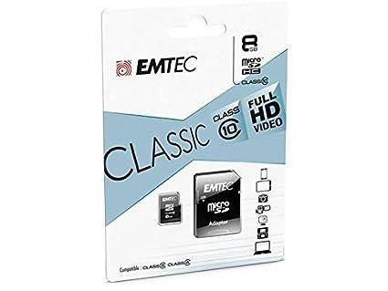 Tarjeta de memoria EMTEC Classic 8 GB MicroSDHC Micro SDHC ...