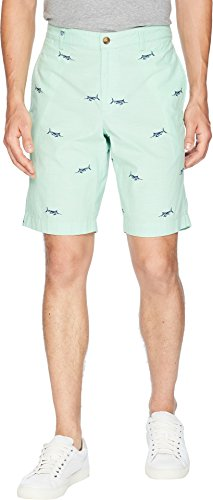 Chaps Men's Printed Chambray Short Classic Lime Multi 38 ()