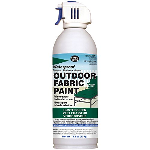 Deval Products OF0046005M Outdoor Spray Fabric Paint, 13.3 oz, Hunter Green