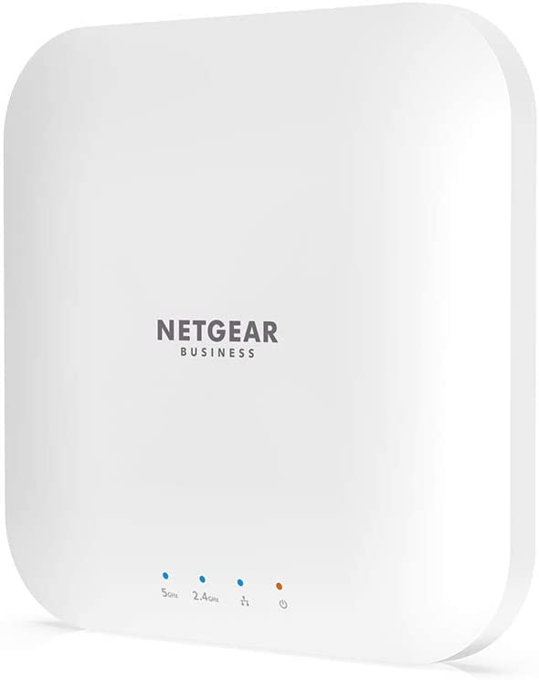 NETGEAR Wireless Access Point (WAX214) - WiFi 6 Dual-Band AX1800 Speed   1 x 1G Ethernet PoE Port   802.11ax   WPA3 Security   Create up to 4 Separate Wireless Networks
