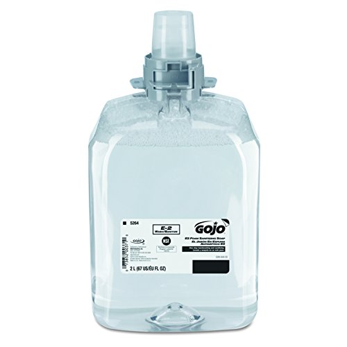 E2 Sanitizing Soap Refill (GOJO 526402 E2 Foam Sanitizing Soap, 2000 ml Refill (Case of 2))