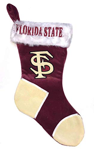 Forever Collectibles NCAA Florida State Seminoles Embroidered Plush Stocking, Maroon, - Stocking Christmas Seminoles State Florida