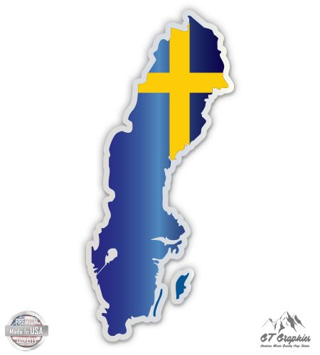 Sweden Map Flag Country Shape - 3
