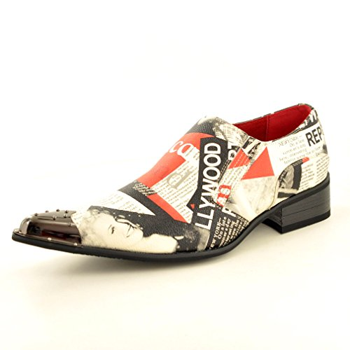 My Perfect Pair Mens Leather Lined Retro Marilyn Monroe Print Slip On Vintage Shoes UK Size 9