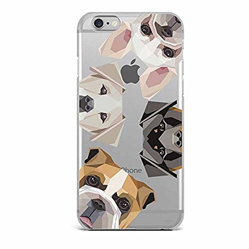 iPhone 6 / 6s Compatible , Designer Choice Collection Colorful Flexible Glossy Hard iPhone Case Cover - Dog Overload
