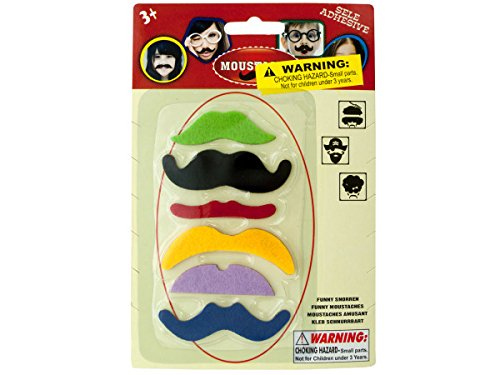 Bulk Buys Self-Adhesive Moustache Play Set (Set of 96) by bulk buys