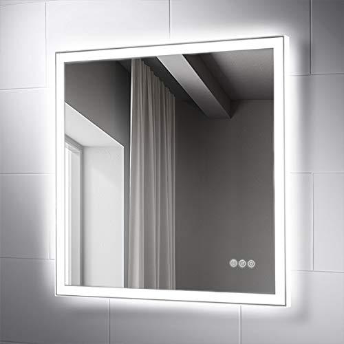 Pebble Grey 28 x 28 Inch Wall Mounted LED Lighted Bathroom Vanity -