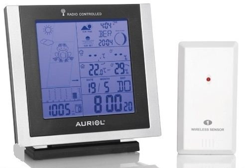 auriol radio controlled weather station amazon co uk garden outdoors rh amazon co uk auriol lcd radio controlled clock manual lidl auriol radio controlled clock manual