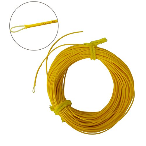 Aventik Fly Fishing Line Dynamic Taper Weight Forward Floating Fly Line Exposed Loops Line ID Ultra Low Stretch Fly Line WF3/4/5/6/7/8F (Yellow, 3F)