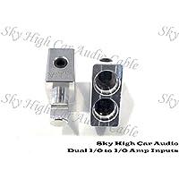 Pair of Sky High Car Audio Dual 1/0 Gauge to 1/0 Gauge Amp Input Reducers FREE SHIP