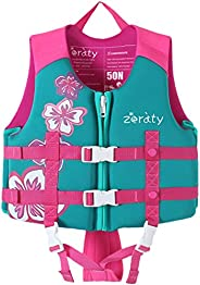 Zeraty Kids Swim Vest Life Jacket Flotation Swimming Aid for Toddlers with Adjustable Safety Strap Age 1-9 Yea