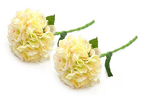 DII 2 Piece Artificial Hydrangea - Natural Silk Flowers For Bridal Bouquet, Home Decoration, DIY, Arts & Crafts Project, Garden, Office Decor, Centerpiece Décor - White