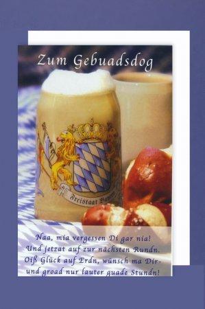 Geburtstagskarte Bayern Zum Gebuadsdog.Doppelkarte inkl.Umschlag