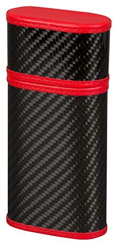 - Tonino Lamborghini Tonino Carbon Fiber and Red 3 Finger Cigar Case