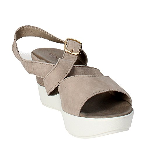 Grünland fleu SA0861 correa perla sandalias de cuña mujer Beige