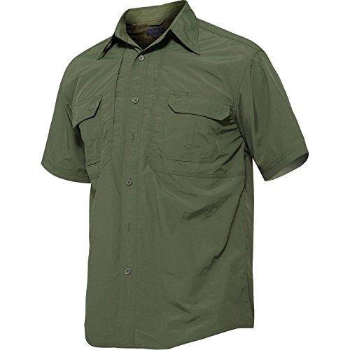 TACVASEN アウトドア メンズ シャツ 速乾 t-シャツ UVカット カジュアル 半袖 ボタンダウン シャツ