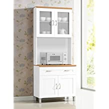 Hodedah HIKF92 IMPORT Kitchen Cabinet, White