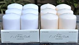 Spring Rose(TM) 2 X 3 Inch White Pillar Candles(Set of 6). These Are Perfect For Party Or Wedding Decorations. Get Great Prices Buying in Bulk.