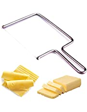 Cheese Wire Slicer Cutter - Cheese Knives Slicers with Wire - Handheld Butter Cutter Tools for Soft Hard Block - Easy Fast Cutting Hard Or Semi Hard Block Cheeses - with Extra Wire - Best Gift Idea
