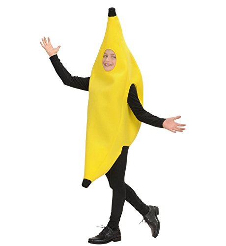 Children's Banana Child 158cm Costume For 60s 70s 80s Cartoon Fancy Dress (80s Fancy Dress Characters)