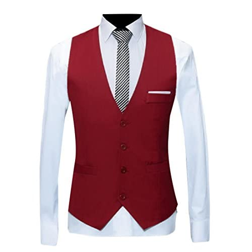 Cheap Comfy Mens Solid Colored Business Casual 4 Button Dress Waistcoat supplier