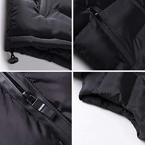 Winstret Sportiva Caldo Modo Gilet Uomini Maniche Tuta Outwear Incappucciata Di Formati Giù Comodi Hx Invernali Degli Schwarz Giacca Cappotto dZw7zd