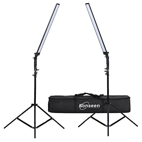 Dimmable LED Video Handheld Lights Photography Studio Continuous Output Lighting Kit with Tripod Stand for Camera Photo Studio Shooting,YouTube, Capture - 36W - 2 Pack by Konseen (Image #5)