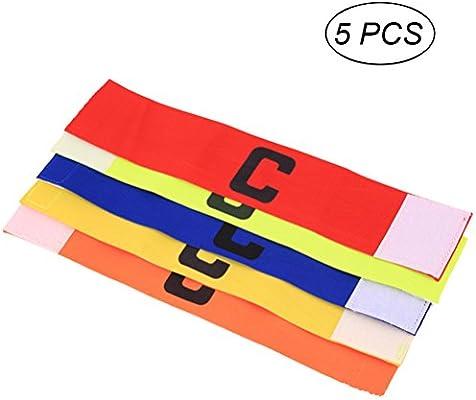 VORCOOL 5 Piezas de fútbol Soccer capitanes brazaletes y diseño ...