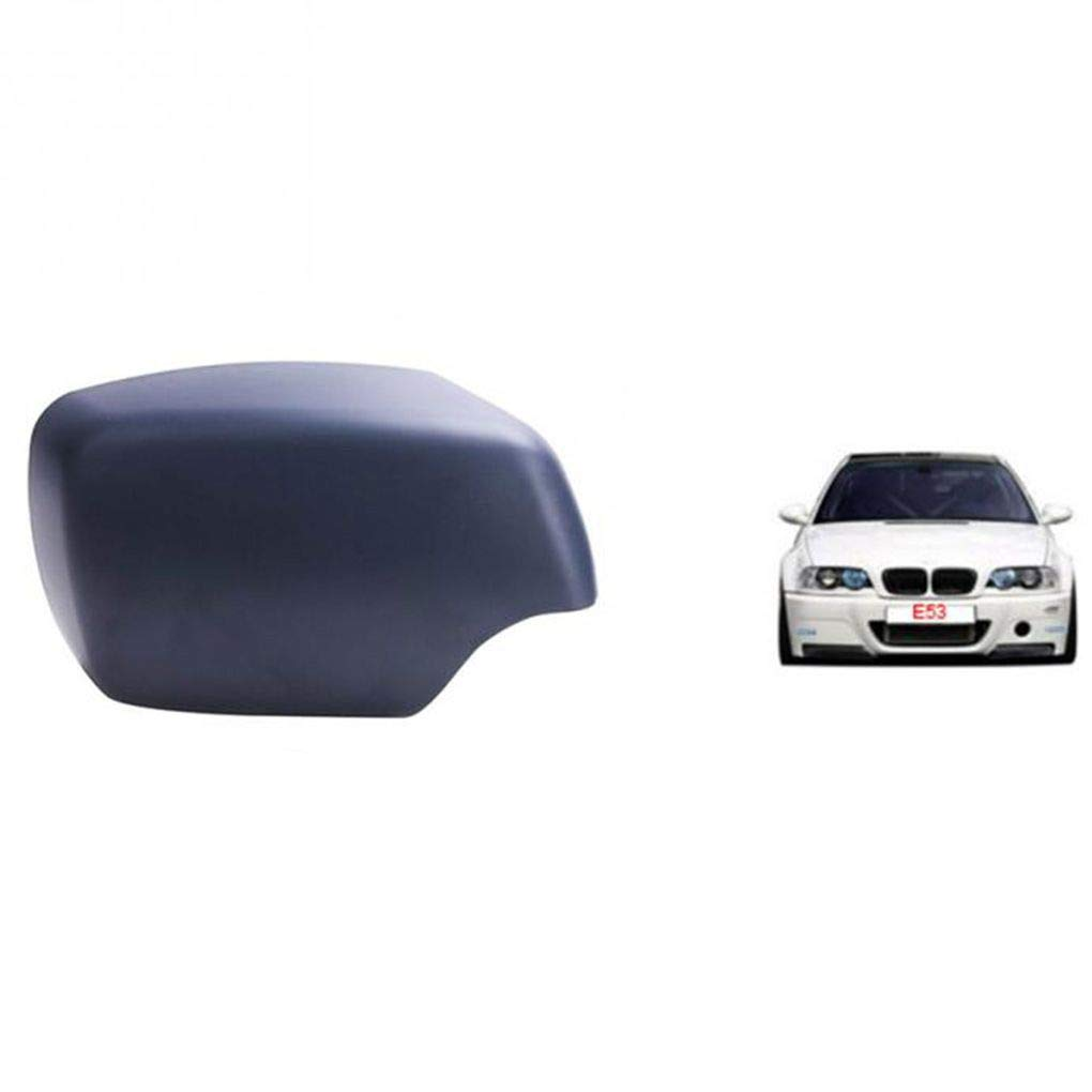 yanana Reemplazo para BMW X5 E53 00-06 Espejo Cubierta de la Carcasa del Casquillo imprimado Derecho del Lado del Pasajero 51168256322