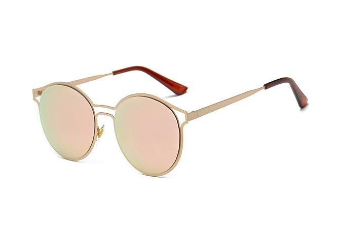 0547b002c94e3c LABIUO Sonnenbrille, Unisex Mode Vintage Runde Kreis Brille Polarisierte Metallrahmen  Spiegel Objektiv Sicherheit UV Schutz