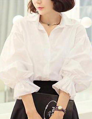 aiu Mujer Sólido Blanco Camisa, Camisa cuello manga larga Fruncidos Talla:small: Amazon.es: Deportes y aire libre