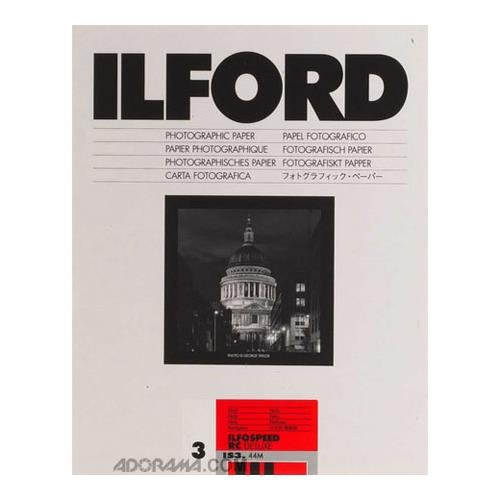 Ilford Ilfospeed RC Deluxe Resin Coated Black & White Enlarging Paper - 5x7''- 25 Sheets - 44M - Pearl Surface by Ilford Ilfospeed