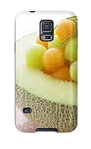 Matt C Brown Scratch-free Phone Case For Galaxy S5- Retail Packaging - Melon Balls wangjiang maoyi