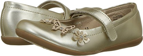 Kid Express Baby Girl's Robyn (Toddler/Little Kid) Gold Metallic 29 M (Gold Metallic Kid Footwear)