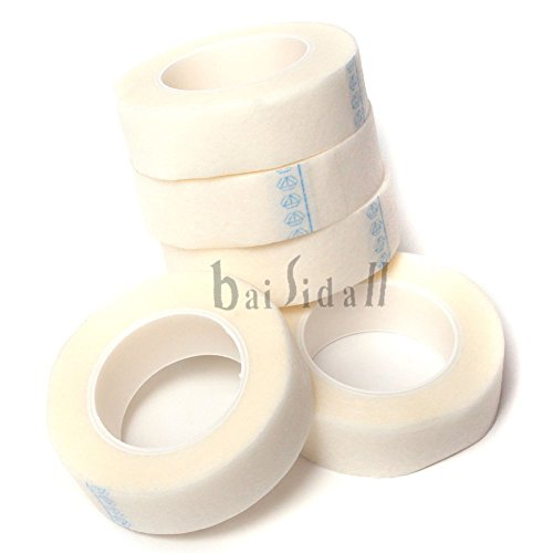 baisidai-5-rolls-medical-tape-for-individual-eyelash-extension-supply