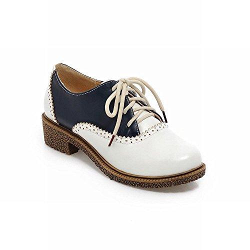 Show Shine Womens Fashion Assorted Colors Oxfords Shoes Dark Blue koImwIEN