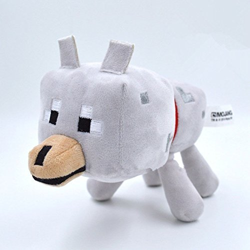 [Hot sale Minecraft Animal Plush Toys Stuffed animals Soft Doll - Wolf kids gifts] (Dog Puffle Costume Club Penguin)