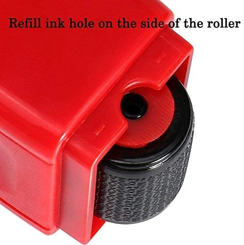 Red Roller Stempel mit 3 Nachf/üllungen Identity Protection Roller Stempel LioNergy Wide Roller Identity Theft Prevention Security Stempel