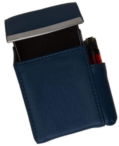 New Marshal Genuine Cigarette Case Holder#92812 (Navy blue)