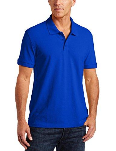 Adult Fashion Polo (Classroom Unisex-Adults Men's Short Sleeve Pique Polo, Sos Royal Blue, S)