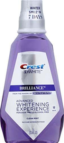Crest Crest 3d White Brilliance Alcohol Free Whitening Mouthwash Clean Mint, 33.8 Fl Oz, 33.80 Oz