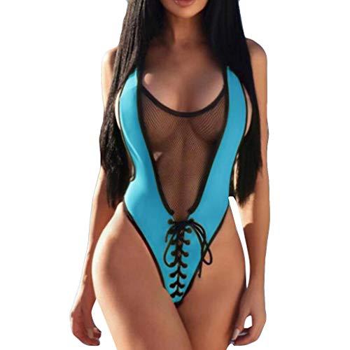 Inverlee Women Jumpsuit Push-Up Padded Bra Sport Beach Bikini One Piece Sexy Swimwear