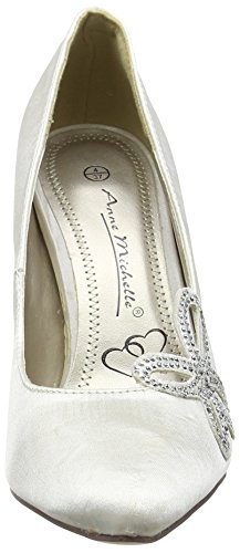 Spot On F9736 - Tacones Mujer Blanco - Off White (Ivory)