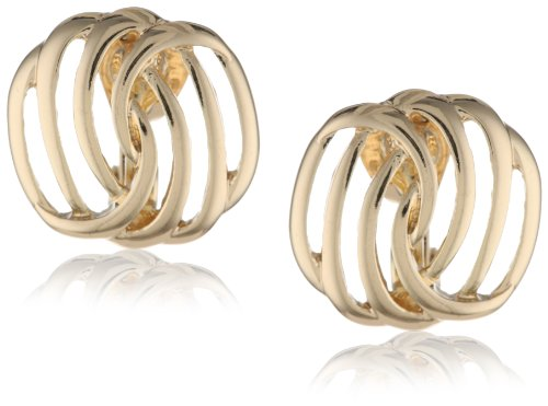 Napier Gold-Tone Twisted Clip-On Earrings ()