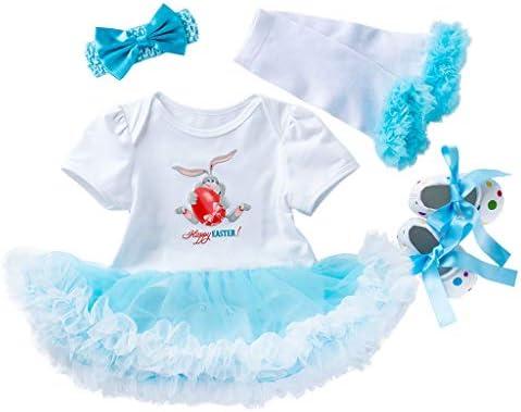 Newborn Rose Gold My 1st Easter Pink Bunny White Dress 1ST EASTER TUTU ROMPER